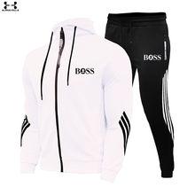 Nuevo sí, jefe de los hombres traje de Sudadera con capucha + Pantalones Jogging Harajuku ropa deportiva Casual de los hombres/mujeres entrenamientos deportivos camisa chándal marca