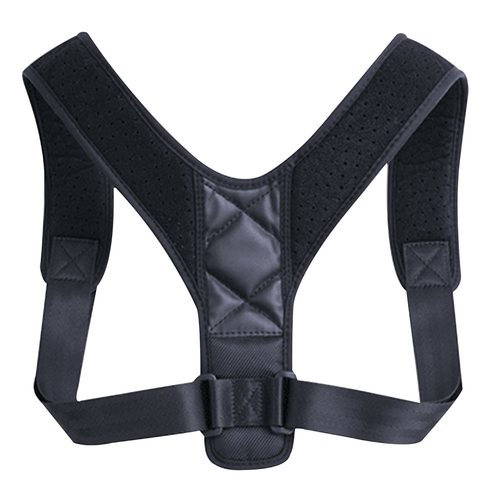 Men Women Magic Sticker Back Brace Black Pain Relief Posture Corrector Adjustable Strap Support Belt Orthotics Thin Soft