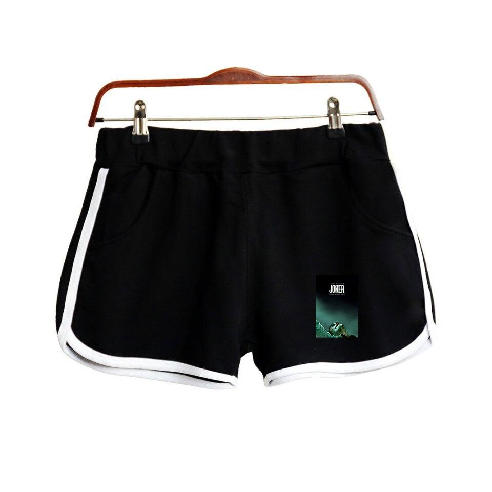 Joaquin Phoenix Movie Joker 2019 Gotham City Arthur Fleck 2D Print Women Shorts Harajuku Ladies Hot Sale Sexy Kawaii Shorts