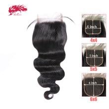 Бразильские волнистые волосы на сетке высокой четкости 2x6 4x4 5x5, 100% человеческие волосы без повреждений, 10-20 дюймов, Ali Queen, застежка на сетке о...