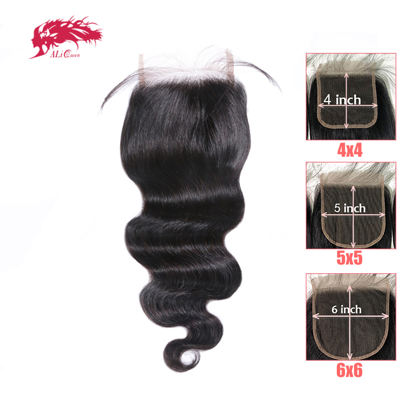 HD Transparent 4x4/5x5/6x6 Lace Closure Brazilian Body Wave Remy Human Hair 10