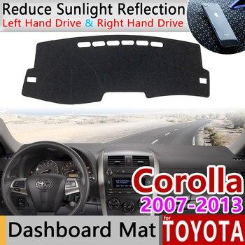 لتويوتا كورولا E140 E150 2007 ~ 2013 مكافحة زلة حصيرة لوحة الغلاف سادة ظلة Dashmat السجاد اكسسوارات السيارات 2008 2011 2012