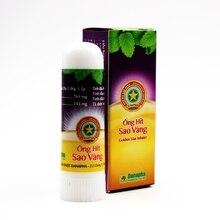 Golden Star bâton pour inhalateur Nasal aux herbes, cylindre de menthe, traitement, asthme, maux de tête congestion nasale, arôme rafraîchissant