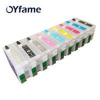 Oyfame 9 cores t157 cartuchos de tinta recarregáveis para epson stylus photo r3000 impressora com chips de restauração automática t1571 t1579|ink cartridge|ink cartridge for epson|cartridge for epson -