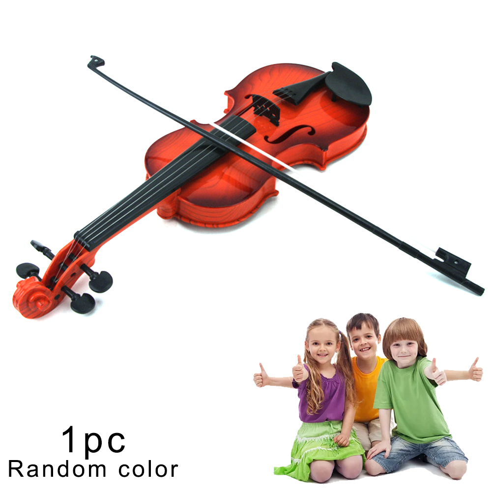 1Pc Simulation Violin Musical Toy Kids Instrument Toy Educational Toy Violin Toy For Kids Older Than 2 Year-Old, Random Color