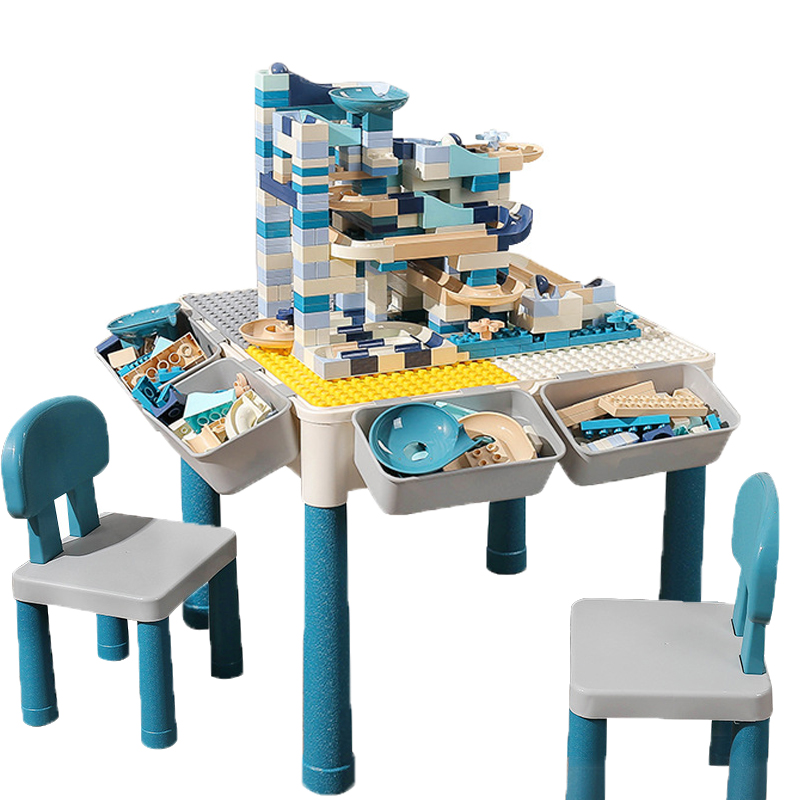 Multi Functions Block Table Desk Base Plate Study Table Big Bricks Building Blocks Compatible Duploed Blocks Gift For Children