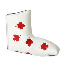 Deluxe Golf Blade Putter Headcover Maple Leaf Golf Club Head Cover Protector