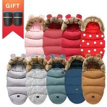 Soft-Suit Sleepsack Stroller Winter Warm Thicken Windproof Big for with Gift Hooded Fleece