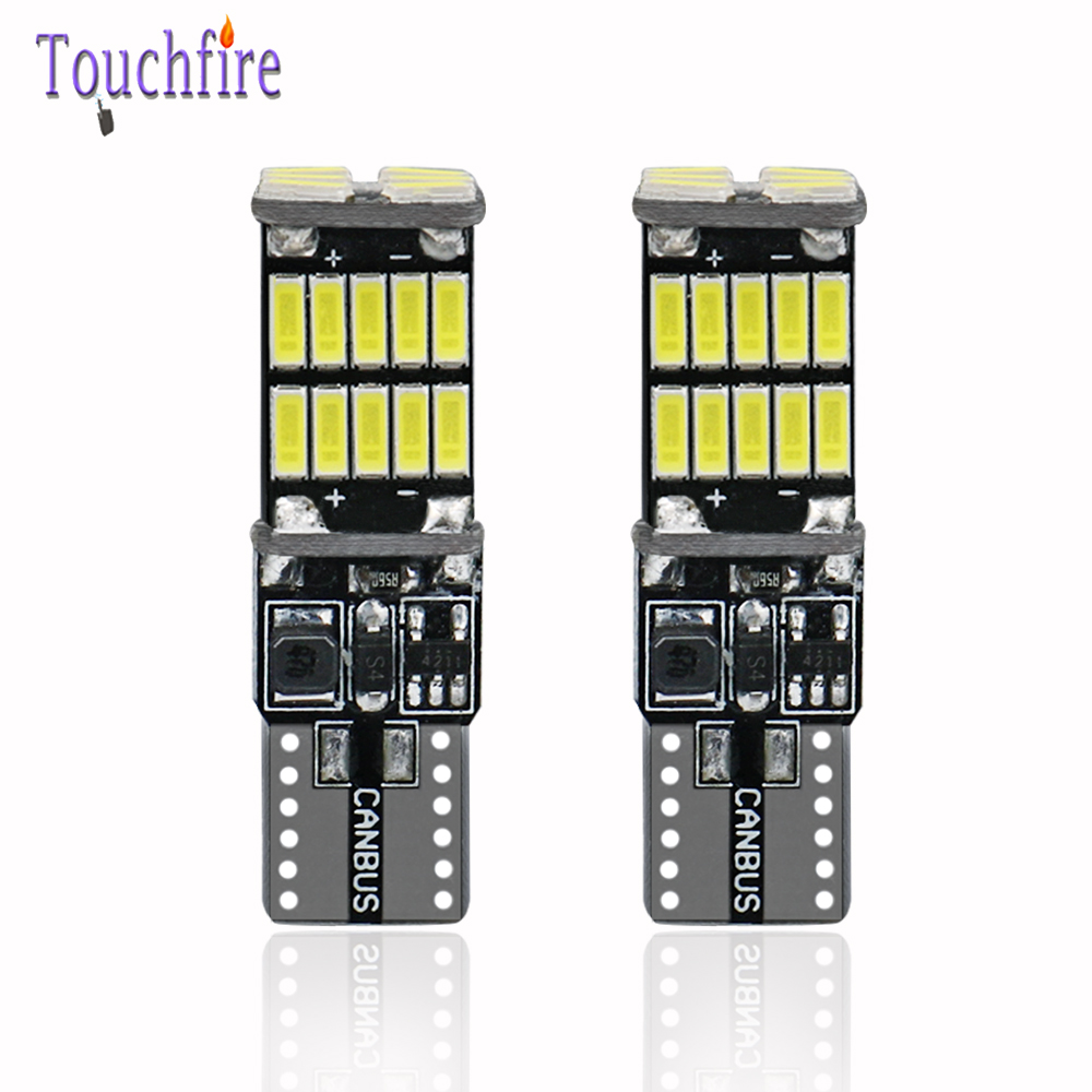 <font><b>100X</b></font> <font><b>T10</b></font> W5W canbus Auto interior light 194 168 26LED 4014 SMD Instrument Lights car Bulb lamp dome light Error Free 12V 6000K image