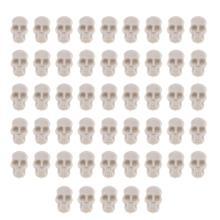 50 шт череп пластиковые игрушки креативное моделирование череп Декор сложные игрушки череп орнамент DIY аксессуары для рабочего стола подаро...