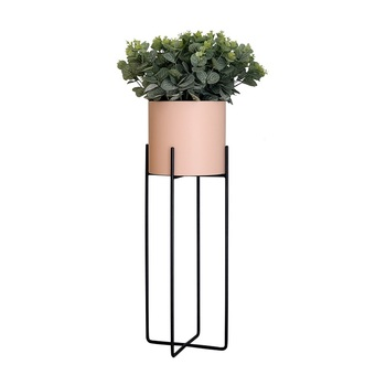Nordic Wrought Iron Green Flower Frame Living Room Decoration Balcony Flower Shelf Simple Modern Indoor Plant Floor Flower Pot R