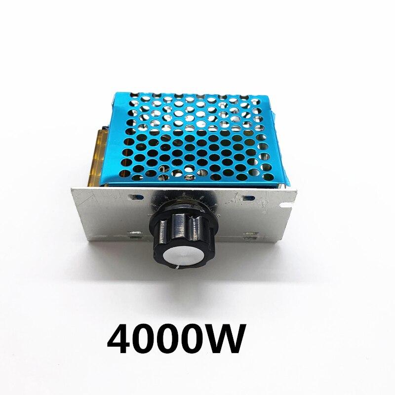 Regulador de voltaje oscurecimiento de CA 220V 4000W SCR regulador de velocidad del Motor módulo regulador de voltaje electrónico