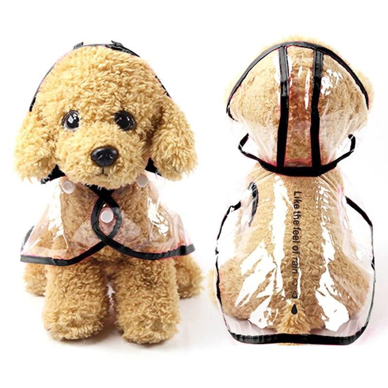 Dog Raincoat Small  Medium-sized Dog Teddy Corgi Four-legged Waterproof All-inclusive Pet Four Seasons Hooded Raincoat Clothes