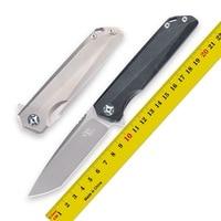 CH original authentic M390 folding knife titanium alloy bearing tumbling pocket knives camping self defense hunting tool EDC3507