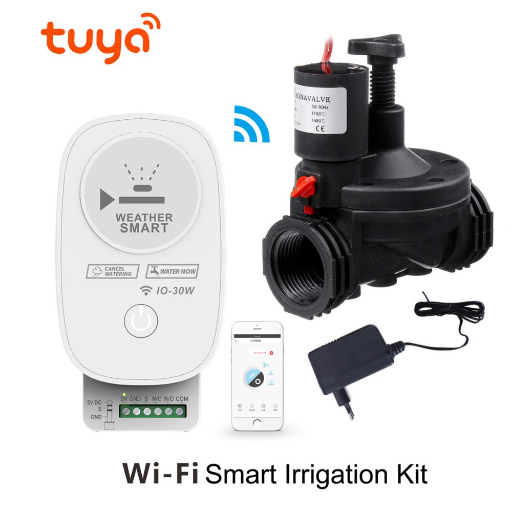 Tuya Wifi Intelligent SmartControl Garden Irrigation Kit System Controller Automatic Watering Irrigate With Electronic Valve