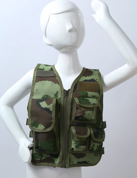 Military Kids Camouflage Hunting Clothes Men Combat Equipment Tactical Army Vest Children Cosplay Costume Airsoft Sniper Uniform 5