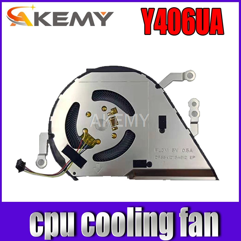 Новый вентилятор охлаждения процессора для Asus Vivibook 14 X420 13NB0LA0M02111 FL3M DFS5K121154912 5V 0.5A fan Stone Y406U Y406F Fan Y406UA