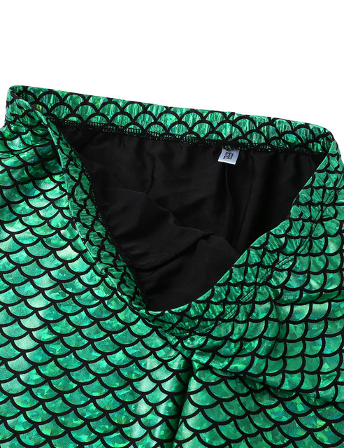 Men Boys Mermaid Scale Skinny Pants Man Shiny Wetlook Breathable Leggings Tights For Theme Party Nightclub Stage Dance Costume 4