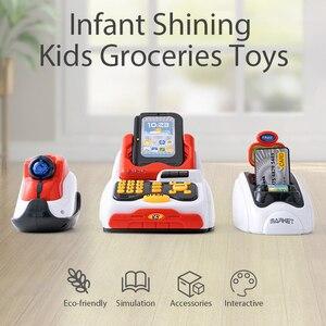 Image 5 - ילדים לילדים קופת של צעצוע סימולציה סופרמרקט קניות ילדה ילד לסחוב כרטיס מכונה מכירות קופה