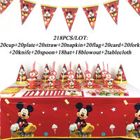 High Quanlity Mickey Mouse Party Tableware Disposable Plates Cup Tablecloth Kids Birthday Party Baby Shower Decorations Supplies