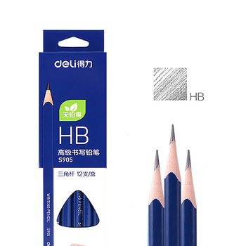 цена на Deli 12pcs/lot Wooden Lead Pencils HB Pencils Stationery Office & School Supplies Wood Pencil for Student Drawing Writing Black