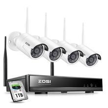 ZOSI Sistema de CCTV inalámbrico 8CH H.265 + 1080P NVR 2CH/4CH 2MP IR-CUT cámara CCTV al aire libre sistema de seguridad IP Kit de videovigilancia