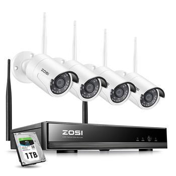 ZOSI 8CH bezprzewodowy System CCTV H.265 + 1080P NVR 2CH/4CH 2MP IR-CUT na świeżym powietrzu kamera telewizji przemysłowej zabezpieczenia IP System wideo zestaw do nadzorowania