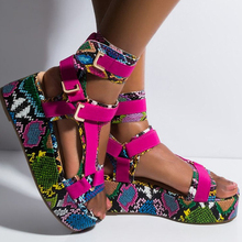 BUSY GIRL ML9037 Colorblock platform sandals,Fashionable female sandals stitched together in multiple colors,wedge sandals, цена 2017