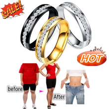 4 Colors Fashion Slimming Ring Magnetic Therapy Healthy Weight Loss Burning Fat  Body Shaping Health Care Fitness Jewelry