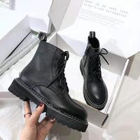 2019 Genuine Leather Ankle Knight Boots Women's Botines Ankle Martin Boots Luxury Designer Outdoor Boot size 35 40