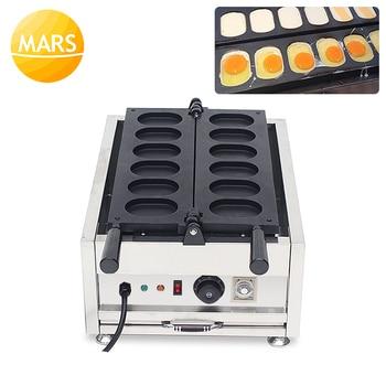 Commercial Electric 6pcs Korean Egg Breads Waffle Pan Machine Egg Waffle Maker 110V 220V Cake Baker Iron Pan Baking Equipment