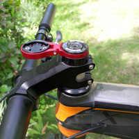 GPS Cycling Bike Computer Mount Stem Support Folding Top Cap Stopwatch Adjustable Angle Bracket Aluminum Alloy For Garmin Edge