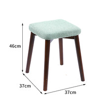 Cheap Solid Wood Chair Modern Minimalist Fabric Dining Stool Nordic Makeup Chairs Bedroom Furniture with Removable Cover