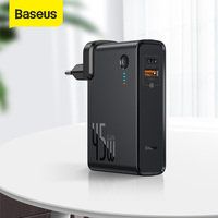 Baseus 2 in 1 Power Bank 10000mAh GaN Charger USB C PD Fast Charging  Powerbank Portable Battery ChargerFor iPhone 11 Pro Laptop