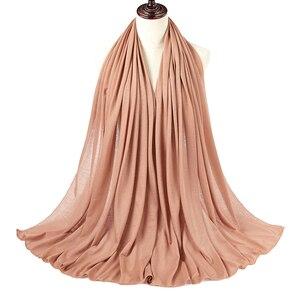 Image 3 - 10pcs/lot Women Muslim Jersey Hijab Scarf Foulard Femme Size Plus Hijabs Islamic Shawls Soild Modal Headscarf For Women