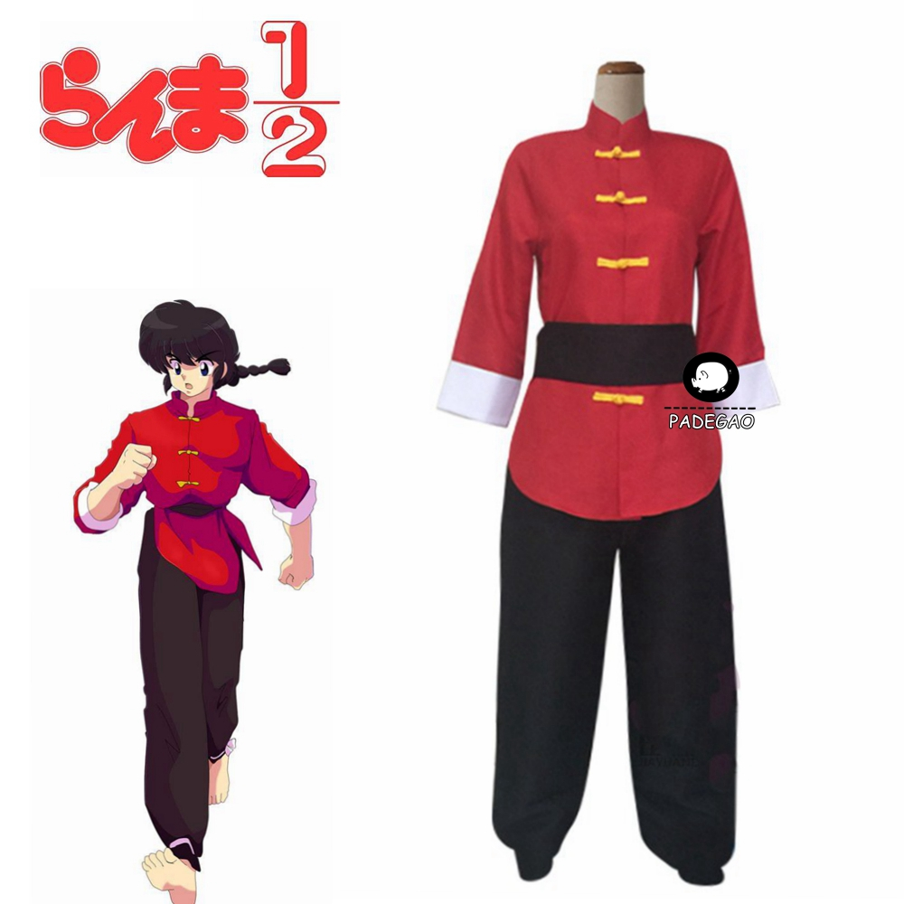 Anime Ranma 1/2 Tendou Akane Cosplay Costume Japanese Anime Mens Womens Chinese Style Outfit Custom