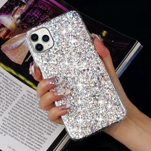 LAPOPNUT Luxury Glitter Gloss Sequins Soft Shockproof Silicone Case Cov