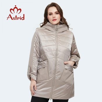 Astrid 2020 Spring new arrival women jacket loose clothing outerwear high quality plus size mid-length fashion coat AM-8612 - discount item  62% OFF Parkas
