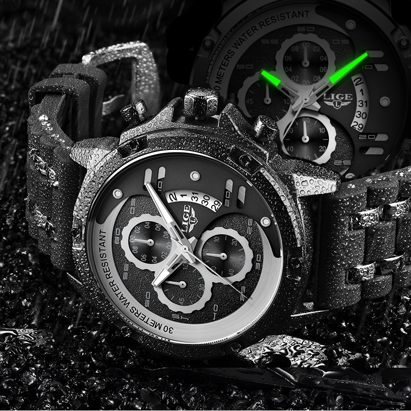 Luxury Brand Men Watch LIGE Waterproof Quartz Watches Business Watch Male Sports Chronograph Relogio Masculino Citizen Watch NEW