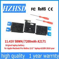 11.41V 58WH/7200mAh A2171 A2159 Original laptop battery for Apple Macbook Pro Retina 13.3'' A2159 2019 year