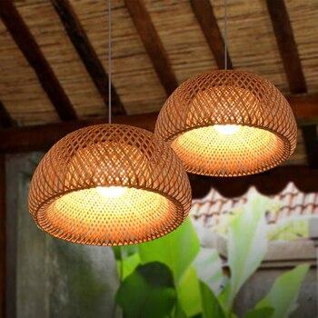 New Chinese LED Bamboo Bird Cage Pendant Lights Lighting Modern Loft Living Room Lamp Decor Bar Restaurant Bedroom Light Fixture