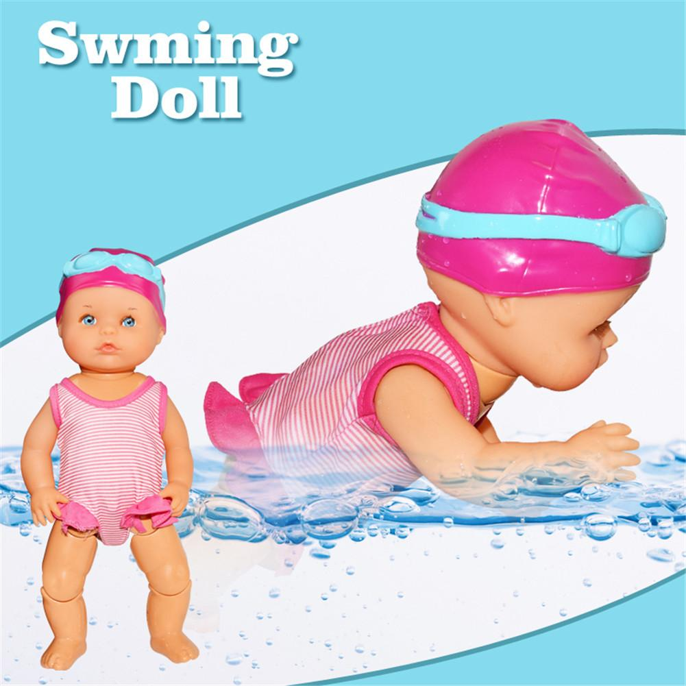 Waterproof Swimming Doll Kid Girls <font><b>Toy</b></font> Swimming <font><b>Water</b></font> Doll Electric Dolls Joint Movable Dolls Best Gift <font><b>Toy</b></font> <font><b>For</b></font> <font><b>Children</b></font> image