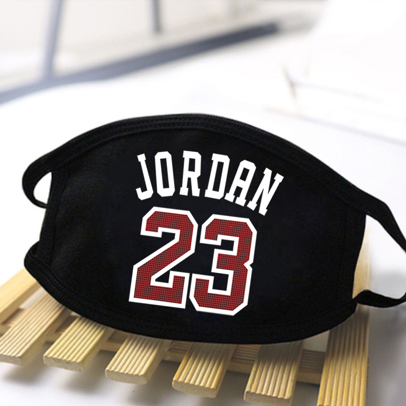 Jordan 23 Print Dustproof Masks Washable Mouth Muffles Respirator Masque Reusable Protective Women Breathable Anti-Dust Mask Men