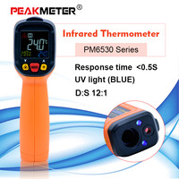 PEAKMETER PM6530 digital thermometer non contact Infrared Thermometer 50~800 + Humidity Dew Point IRT K type Ambient UV Light