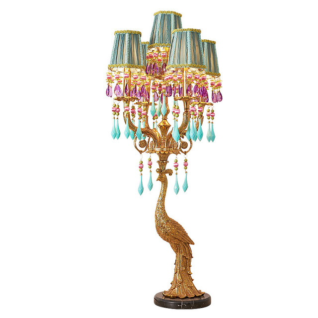Exotic Peacock Table Lamp
