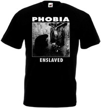 Phobia V9 Enslaved T-Shirt Black Hardcore Punk All Sizes S-5Xl(China)