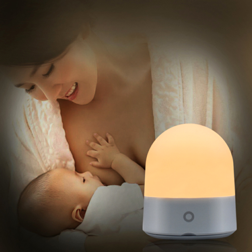 LED Silicone Soft Night Light Lamp 7 Colors RGBWW Night Light For Kids Baby Nursery Lamp Bedside Lamp For Breastfeeding Diaper