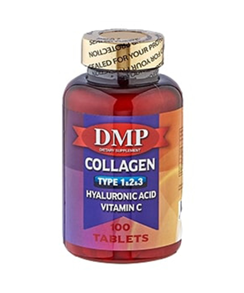 DMP Collagen Type 1-2-3 Hyaluronıc Acıd Vitamin C 100 Tablets
