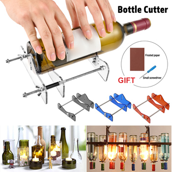 Professional Glass Bottle Cutter Round Bottle Cutting Machine DIY Machine for Cutting Wine Beer  bottle 2016 hxx 1um optical glass scale with 650mm travel length for wire cutting machine