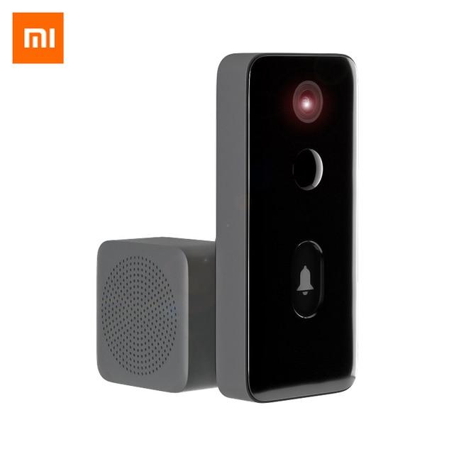 Xiaomi mijia campainha de vídeo 2 MJML02 FJ ai inteligente, campainha humana detecta 3 dias, armazenamento de voz, mudança 2way, conversa, visão noturna dnd